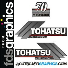 TOHATSU 70 automixing moteur hors-bord STICKERS / AUTOCOLLANT Kit