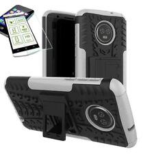 pour Motorola Moto G6 Plus HYBRID ETUI extérieur 2 pièces Blanc Coque + H9