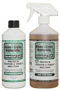 Kleen Green 16oz Concentrate & 24oz Spray for scabies, biting mites & bird mites