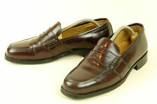 FLORENTINE BOSTONIAN * ITALY * PENNY LOAFER IN DARK BROWN * SZ: 8.5 M * SUPERB