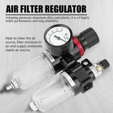 G1/4 Air Compressor Filter Water Separator Trap Tools Kit W/ Regulator AFC2000 H