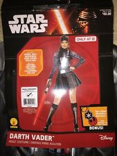 NEW STAR WARS Darth Vader Adult Halloween Costume Womens S 6 -10