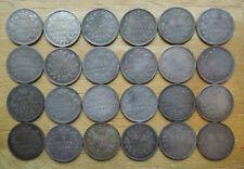 Canada 1880-1888 Five 5 Cents Queen Victoria Silver Coins Collection