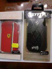 set cover Ferrari nera in pelle e rossa compatibile con iPhone 3-3G-4