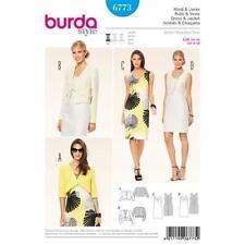 Burda Sewing Pattern 6773 Misses Ladies Dress Jacket 8-18 Uncut New