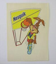 ADESIVO anni '80 NESQUIK NESTLE' CONIGLIO BASKET / Sticker _ (cm 10x15) rabbit