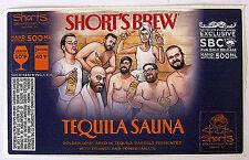 Short's Brew TEQUILA SAUNA beer label MI 500ml STICKER - PUB ONLY RELEASE
