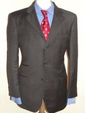 MEN STUNNING T.M. LEWIN CHARCOAL GREY  SUIT 40R  (50R EUR) W34 x L31