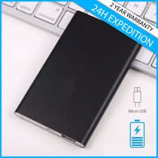 External 8800mAh Power Bank Chargeur Portable Phone Battery Black Noir iPhone LG