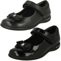 Clarks Girls Prime Skip Black Leather Or Patent Smart School Shoes