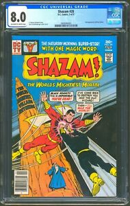 DC COMICS SHAZAM #28 - CGC 8.0 OW/WP - VF - 2ND BLACK ADAM 1ST SINCE GOLDEN AGE