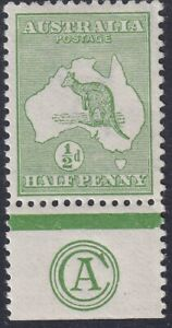 ½d Green CA monogram Kangaroo. Well centred, fresh MVLH. BW 1(2)zb