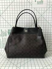 fc50d342b04a8 Coach F27972 Lexy Signature Coated Canvas Leather Shoulder Bag Brown Black
