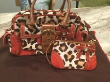 Coach Ocelot Hair Calf  Satchel with suede details also matching wristlet. NWOT