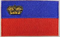 Liechtenstein Aufnäher gestickt,Flagge Fahne,Patch,Aufbügler,6,5cm,neu