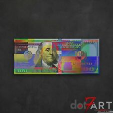 """48""""X20"""" Colorized U.S. One Hundred Dollar Bill - USD $100 Open Edition Print"""
