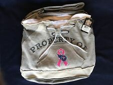 NFL Tennessee Titans Property Of Hoodie Duffel Tote Bag Purse Grey Pink