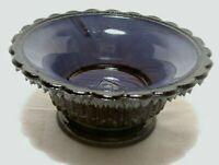 Boyd Glass Star & Dewdrop Open Salt ROYALTY Purple Slag marked B no lines 1978