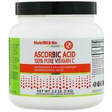 NutriBiotic Ascorbic Acid Crystalline Powder 2 2 lbs 1 kg Egg-Free, Gluten-Free,