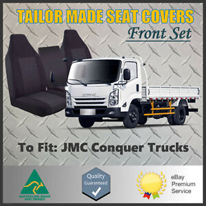 Tailor Made Black Front Seat Covers Custom Fit For JMC Conquer Trucks