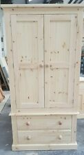 Pine 3ft wardrobe Bottom Drawers Hand Made Painted In Any Colour Of Your Choice