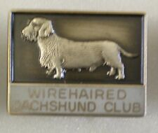 WIREHAIRED DACHSHUND CLUB Enamel Pin Badge DOGS