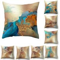 45x45cm Marble Texture Print Cushion Cover Square Pillow Case Home Sofa Decor