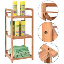 3-Tier Bathroom Shelf Bamboo Bath Storage Space Saver Organizer Shelves Rack New