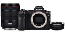 Canon EOS R 30.3MP Digital Camera - Schwarz (Kit mit RF 24-105mm f/4L IS USM Objektiv + Bajonettadapter EF-EOS )