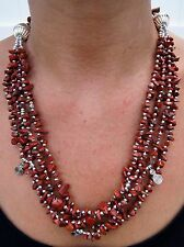 Moroccan Necklace Arabic African Handmade Stones Berber Ethnic Coral Beads New