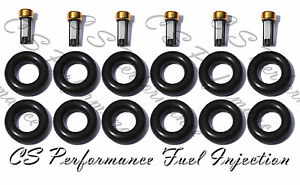 4.0 I6 Jeep Fuel Injector Service Repair Rebuild Kit Orings Filters CSKRP16