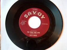 NAPPY BROWN-SAVOY 1569 R&B 45 THIS IS MY CONFESSION B/W FOR THOSE WHO LOVE  VG++