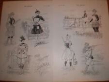 Our Pretty Dianas Mars sporting women prints 1893