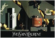 PUBLICITE ADVERTISING  1983    YVES SAINT LAURENT  parfums OPIUMS JAZZ (2 pages)