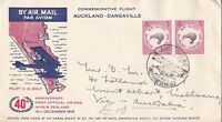 NZFD86) NZ 1959 set of 2 40th Anniversary First Official Airmail in New Zealand