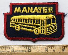 Vintage Manatee County Florida Bus Transportation Logo Patch Bradenton
