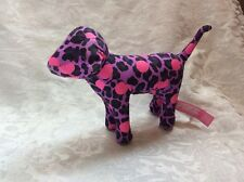 Victoria's Secret Mini Pink Dog ~ Purple Leopard Print With Pink Dots ~ Plush