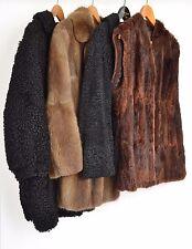 NW143 Konvolut 4x Pelzjacke Pelzmantel Pelz Bisam Persianer Fur Coat Piel