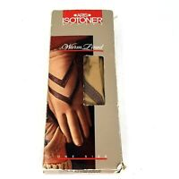 Aris Isotoner Lined Driving Gloves 24011 Camel Mink Brown One Size Leather Grips