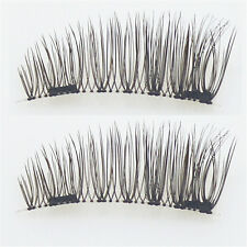 4Pcs Magnetic Eyelashes 3D Reusable False Magnet Eye Lashes Extension UK