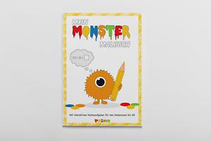 Monster Malbuch Ausmalbuch für Kinder, in A4 Malen Ausmalen, 24 Seiten