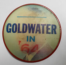 Vintage 1964 Goldwater in `64 Vari-Vue Flasher Campaign Pinback Button