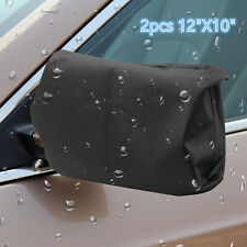 Black 2pcs For Car Side Rear Mirror Protector Snow Ice Frost Guard Cover Protect