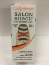 SALLY HANSEN SALON EFFECTS REAL NAIL POLISH STRIPS ( #530 Stripe Out ) NEW.