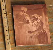 Galvano Kupferklischee Druckplatte Drucker Handsatz letterpress copper plate