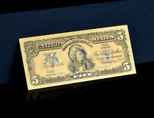 "<TOUCHABLE COLORIZED>1899 ""GOLD"" SILVER CERTIFICATE INDIAN CHEIF Rep.* Banknotee"