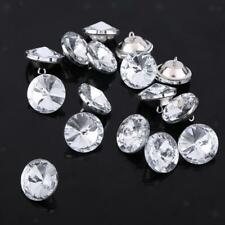 50x 20mm Diamante Crystal Satellite Button Upholstery Headboard Chair Sofa