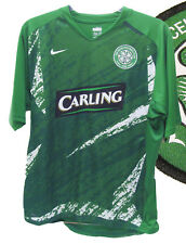 Nike Celtic ENTRAÎNEMENT FOOTBALL T-SHIRT AVANT MATCH CARLING Vert Blanc M