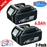 2X 6.0Ah 18V For Makita BL1860B LXT Battery BL1850 BL1830 194230-4 BL1840 Tools