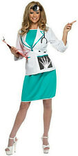 Smiffy's Women's Sexy Private Doctor Adult Costume Size Medium 10-12